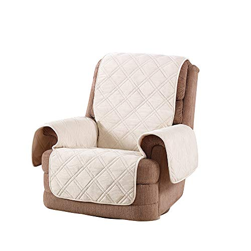 SureFit Triple Protection Recliner, Furniture Cover, Cream
