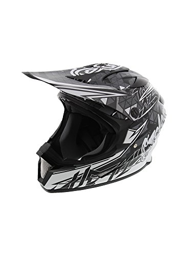 Cyclone ATV MX Dirt Bike Off-Road Helmet DOT/ECE Approved - Black/White - Large - Motocross Gear Closeouts