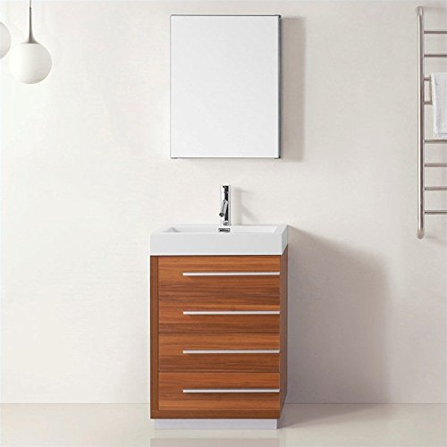 Virtu Usa Js 50524 Pl Prtset1 Bailey 24 Inch Single Bathroom Vanity Set In Plum