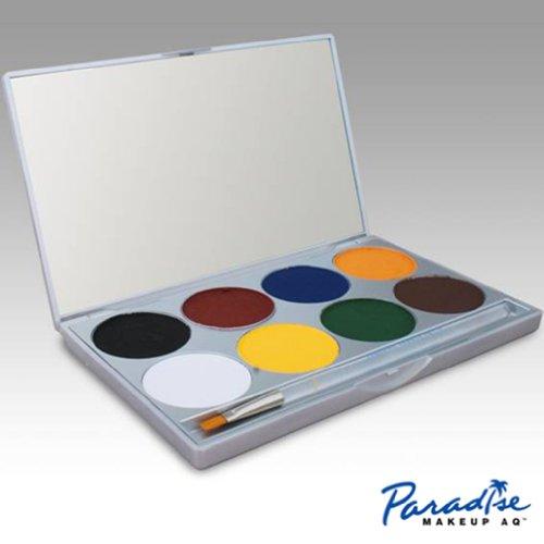 Visage palette de peinture avec 8 couleurs en Paradise Maquillage Aq (Basic)