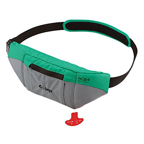 Peace Onyx - 1 - Onyx M24 Manual Inflatable SUP Belt Pack Life Jacket - Aqua
