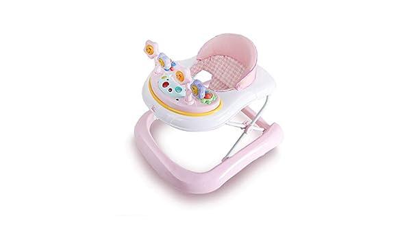 LFY Baby Walkers Pink: antivuelco con música, fácil de ...