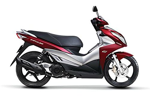 HIGH QUALITY NEW Suzuki Impulse 125 FI 2014 Red Silver Motorcycle Scooter for sale
