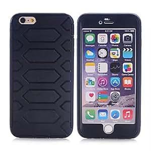 GDW apple iphone 6, TPU + manzana protectora pc iphone 6 la cubierta del caso para el iphone de apple 6 (colores surtidos) , Yellow