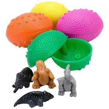 Fun Express Dinosaur Eggs With Mini Toy Dinosaur Figures Inside Party Favor 12 Pieces SG/_B0026880WO/_US