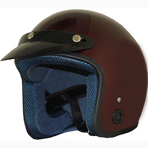Burgundy Motorcycle Helmet - 8