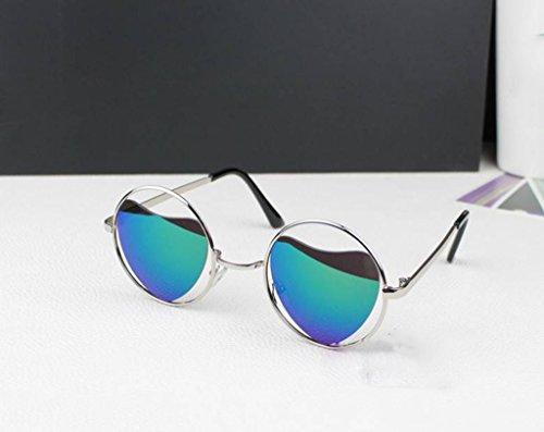corazón corazón del metálica Gafas Color Forma de 6 X sol protecciónn de amp; de Corazón de polarizadas LYM individuales Gafas playa montura Gafas de de sol melocotón 2 amp;Gafas con Espejo Forma q7gxRS