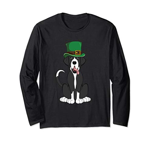 - Mantle Great Dane St. Patricks Day Long Sleeve Shirt Dog