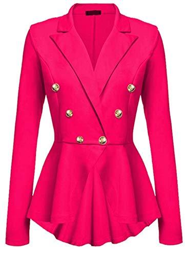 Fit Prendas Joven Otoño Primavera Color Rose Moda Outerwear Manga Sólido Slim Gabardina Abrigos Modernas Mujer Parka Elegante Hipster Casual Larga Exteriores UZCBxngwq