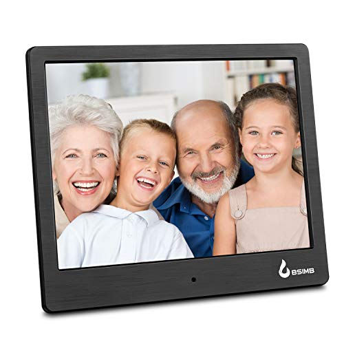 Digital Picture Frame 8 Digital Photo Frame Electronic Pictures Frame Photos Slideshow Videos Player BSIMB Black M12