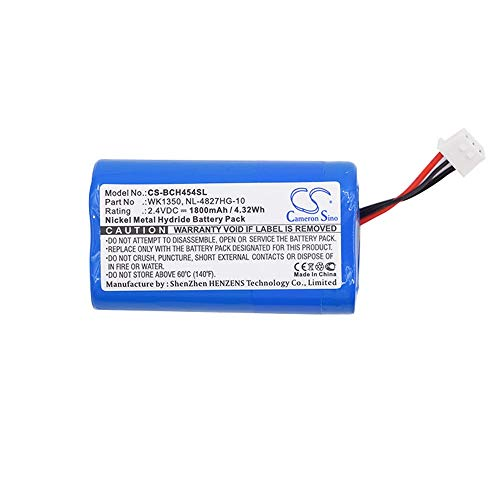 LNTSFE-W Premium Spare Battery Battery for Bosch/DIS Digital IR Receivers/BP 6001 (Ni-MH High Performance 1800mAh 4.32Wh 2.4V Blue Wireless Headset Battery) Attery for Headphones