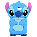 Blue Stitch Case for Samsung Galaxy J3 Emerge/J3 Prime,Express Prime 2,J3 Mission/J3 Eclipse,3D Cartoon Animal Cute Soft Silicone Rubber Cover,Kawaii Character Cool Cases for Kids Teens Girls(J3 2017)