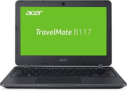 Acer TravelMate B117 (B117-M-C4W4) 29,5 cm (11,6 Zoll HD) Notebook (Intel Celeron N3160, 4GB RAM, 128GB SSD, Intel HD Graphics, kein Betriebssystem) schwarz