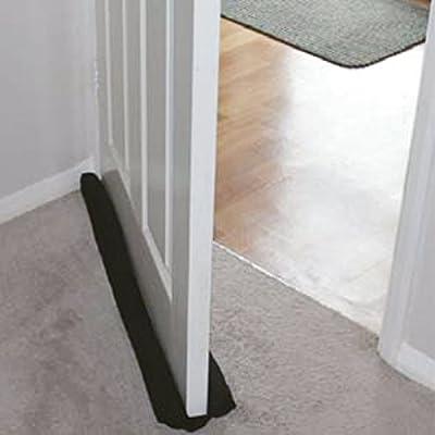 noir Double boudin isolant pour portes et fen/êtres