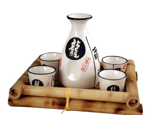 Glazed Ceramic 5 Pcs Japanese Sake Set MZO HAZD053556 POR111