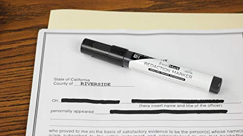 ExcelMark Security Redaction Marker - Blackout Private Information With Our Convenient Redacting Pen (6 Markers) by ExcelMark (Image #2)