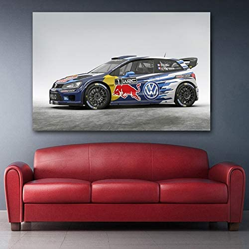 zzlfn3lv Sports Car Polo R WRC Type 6R Racing Racing Poster Canvas ...