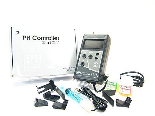 (UP PH Controller Monitor w/probe electrode BNC Adapter Buffer 100~240V #D813 NEW)