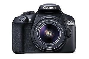 Canon EOS 1300D / T6 EF-S 18-55mm 18.7MP CMOS 5184 x 3456 Pixels (Black) + 16GB SD Card by Canon EOS 1300D EF-S 18-55mm 18.7MP CMOS 5184 x 3456 Pixels (Black) - International Version (No Warranty)