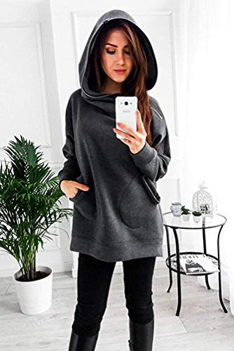 longues Zhrui Sweat Taille d'hiver Casual manches couleur Chic à shirt XL aSwgWqBa