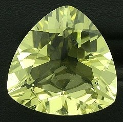 19mm Trilliant Brazilian Citrine Gem Stone Gemstone
