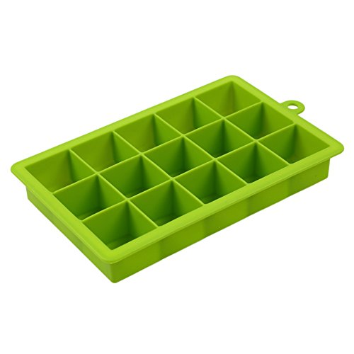Just_for you - DIY Silicone Ice Cube Mold Square Shape Ice Tray, Fruit Ice Cube Ice Cream Maker, Kitchen Bar Drinking Accessories - 5 Colors (Green)