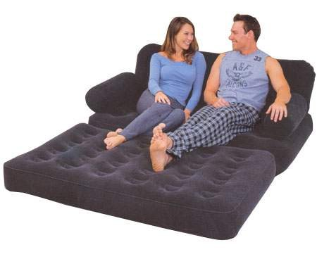 26 opinioni per Divano letto floccato o materasso gonfiabile a 2 piazze completo di pompa di
