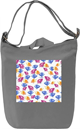 Animated Birds Print Borsa Giornaliera Canvas Canvas Day Bag| 100% Premium Cotton Canvas| DTG Printing|