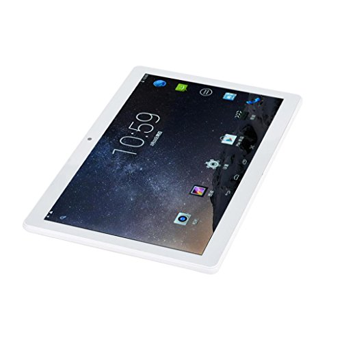 Gotd 10.1 inch HD Dual SIM Camera 3G Quad Core Tablet PC Android 6.0 16GB Bluetooth, White by Goodtrade8