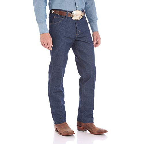 Wrangler Men's Premium Performance Cowboy Cut Regular Fit Jean, Rigid Navy, 29W x 30L