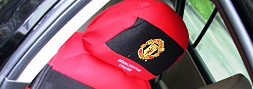 Manchester United Car Accessory Headrest Cover 2 Pcs.