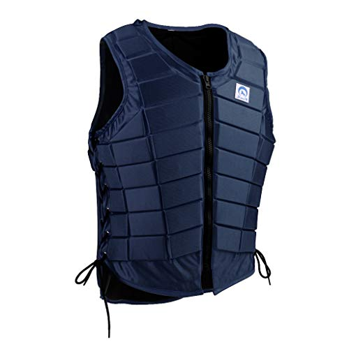Prettyia Equestrian Horse Riding Safety Vest Protective Vest Body Protect Clothing Outdoor Sports Kit - Dark Blue, Women S