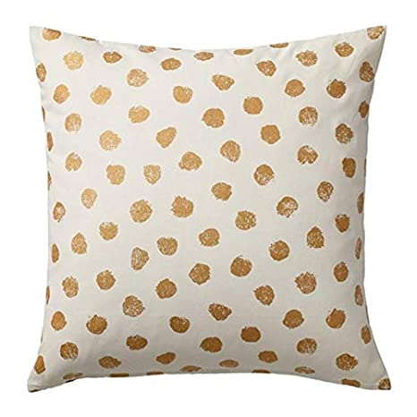Amazon.com: IKEA Skaggort Cushion Cover White Gold Color ...