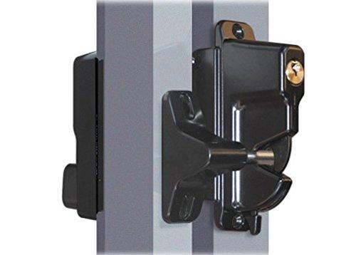 Keystone Advantage - Zinc Diecast - Two Sided Lockable Latch - Keyed Alike - Black (Two Sided Entry)