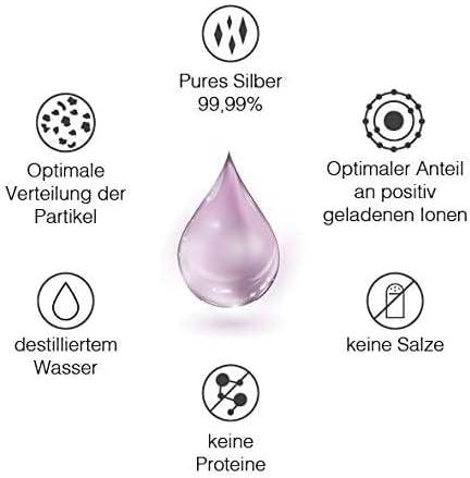 Plata coloidal Vitabay 50 PPM • 1000 ml de agua de Plata coloidal 50 PPM altamente concentrada (nivel de pureza 99,99%) • Agua de plata coloidal pura ...