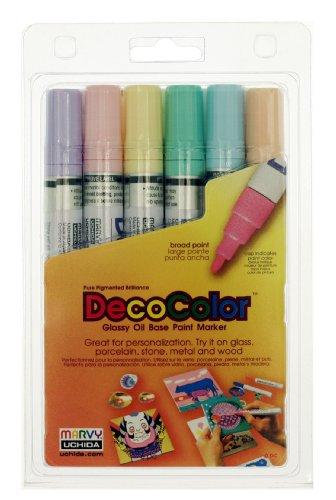 Uchida 300-6B 6-Piece Decocolor Broad Point Paint Marker Set
