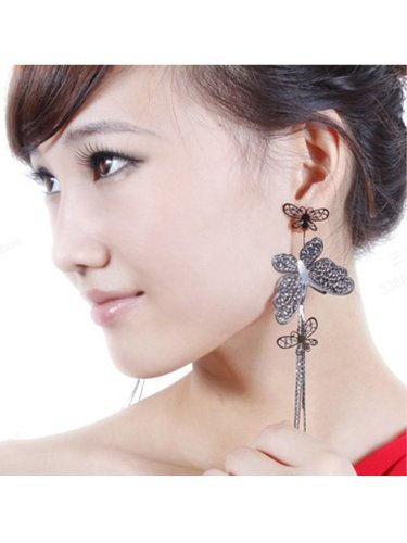 new-fashion-lady-bohemia-hollow-out-long-butterfly-tassels-earrings-gothic-punk-rock-one-pair-black