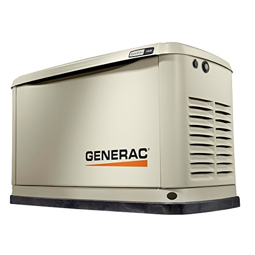 Guardian Generator Automatic - Generac 70311 Home Standby Generator Guardian Series 11/10kW Air-Cooled with Wi-Fi, Aluminum
