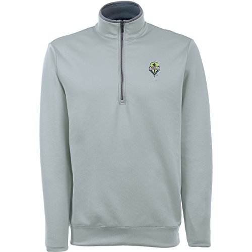UPC 888923292760, ANTIGUA MENS MLS SEATTLE SOUNDERS FC LEADER PULLOVER SILVER MEDIUM