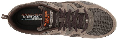 Marrón Zapatillas Hombre country flex Skechers brown Walker Para Quantum 16w7qRF