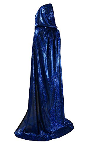 OurLore Unisex Full Length Hooded Cape Halloween Christmas Adult Cloak (Small, Blue)]()