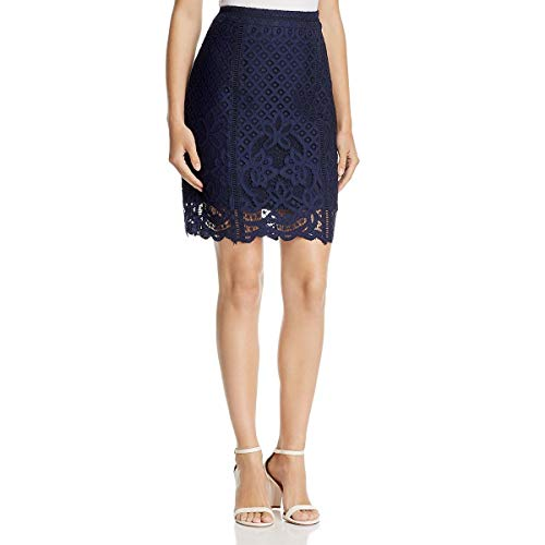 cupcakes and cashmere Women's Almont Lace Pencil Skirt, Ink, 0