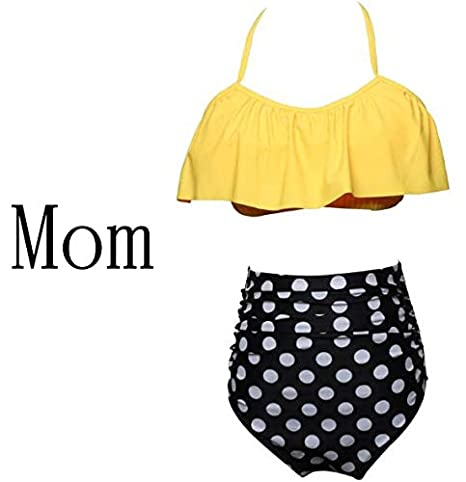 0ee662f9eb 2018 Summer Clothes Family Matching Swimwear Mother Daughter Women Clothes  Beach Kid Clothing Bikini Swimsuit Girl Swimming Sets : Green, XL:  Amazon.in: ...