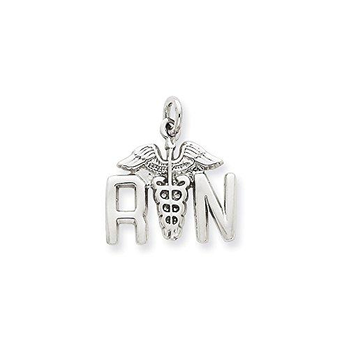 14K White Gold Registered Nurse (R.N) Ch - 14k Gold Nurse Charm Shopping Results