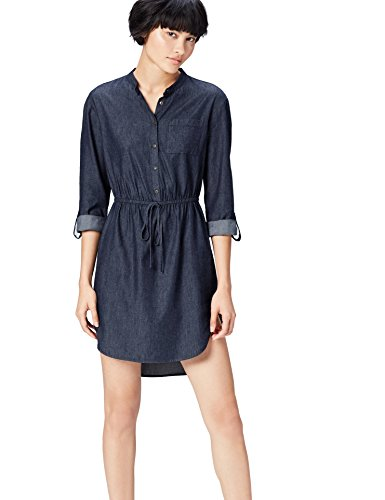 aus Blue Blau Denim FIND Damen Hemdkleid OEqxgnp4w