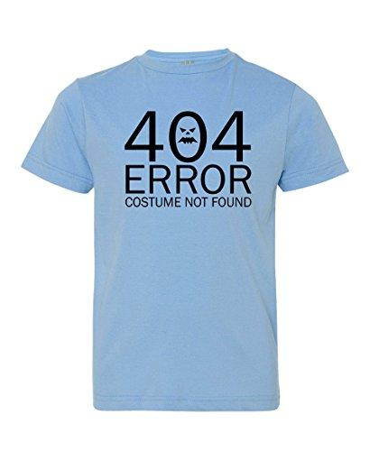 Tenacitee Girl's Youth 404 Costume Not Found shirt, Medium, Light Blue (Nerdy Girl Costume Ideas)