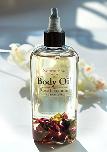 Rose Body Oil By Sopranolabs All Natural Spa Massage