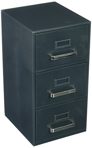 "Price comparison product image Forum Novelties 3-Drawer Mini Filing Cabinet 9""H x 5.5""D x 4.5""W"
