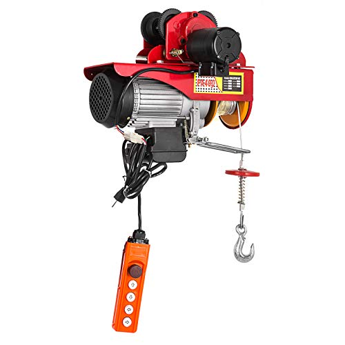 Mophorn 440Lbs Electric Hoist with 1100Lbs Trolley Electric Chain Hoist with Trolley 40ft Chain Electric Hoist and Electric Trolley for Goods Lifting (200 Kg) - Electric Power Chain Hoists