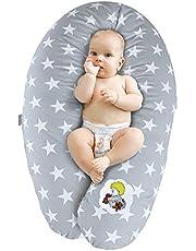 Sei Design Stillkissen Schwangerschaftskissen Seitenschläferkissen Lagerungskissen | Füllung: EPS-Mikroperlen. Bezug aus 100% Baumwolle. XXL 190 x 30 cm. Made in Germany